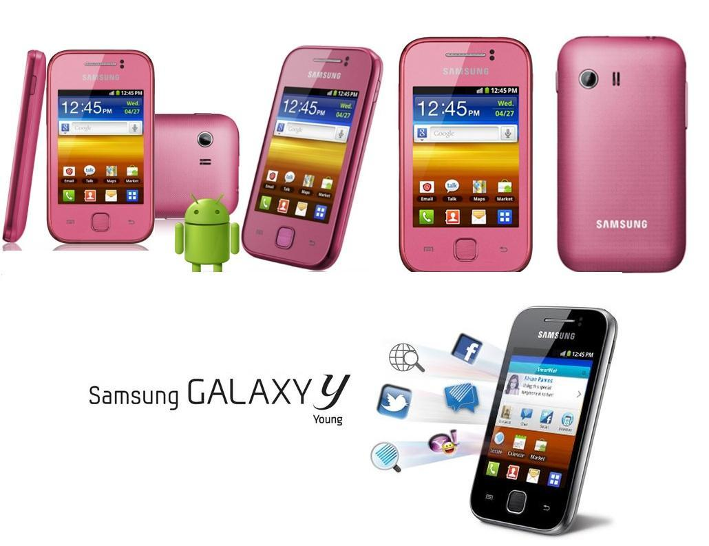 Top 5 Phone Samsung Galaxy Y Pink