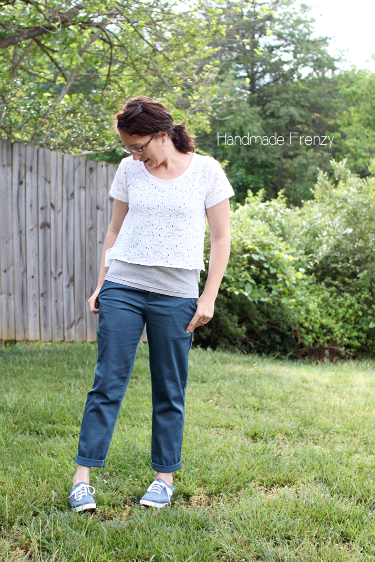 Hampshire Trousers: Pattern by Cali Faye Collection // Sewn by Handmade Frenzy