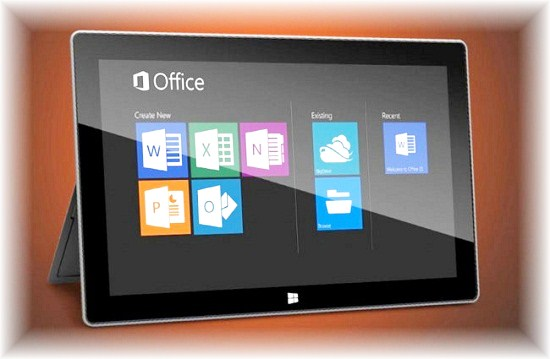 Microsoft Office 2013 Touch Screen