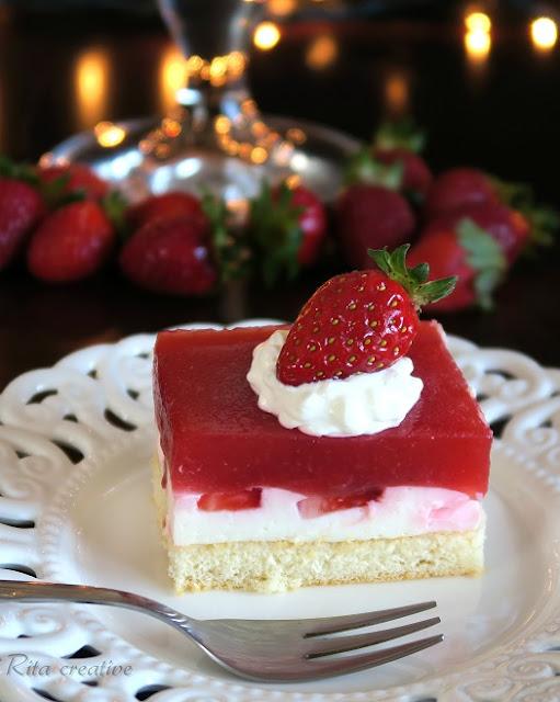 ciasto truskawkowe z jogurtem