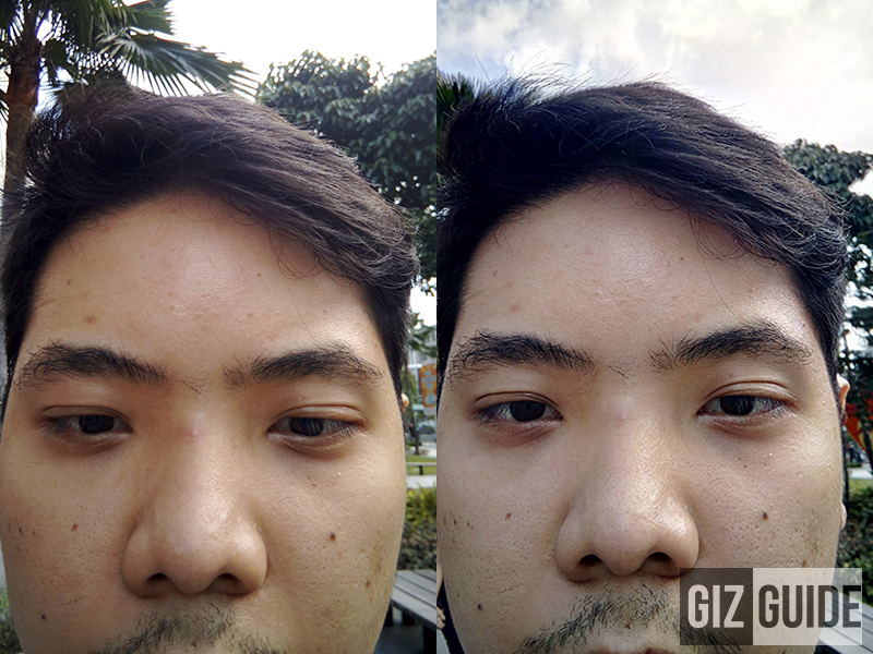 Fine details for outdoor selfies