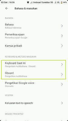 Setelan keyboard android