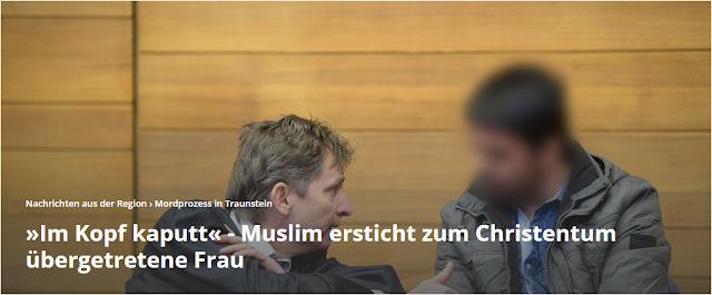 """""""Im Kopf kaputt"""" – Muslim ersticht zum Christentum übergetretene Frau"""