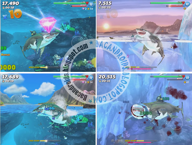 free download Game Hungry Shark World Mega Mod Apk + Data Versi Terbaru