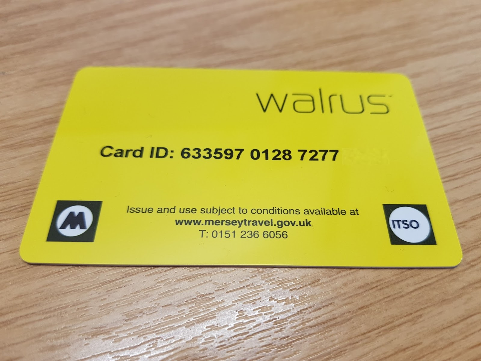 The other side of my Walrus card