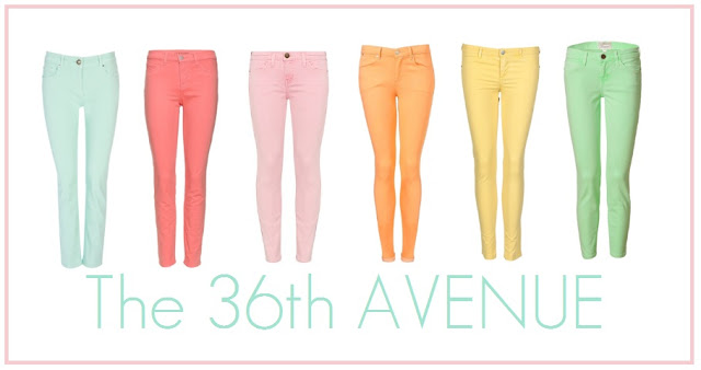 How to wear color jeans. the36thavenue.com