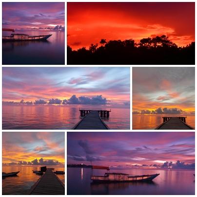 Salah satu keindahan sunset di Teluk Tamiang yang diabadikan oleh pengunjung dan di-share ke blog pribadinya