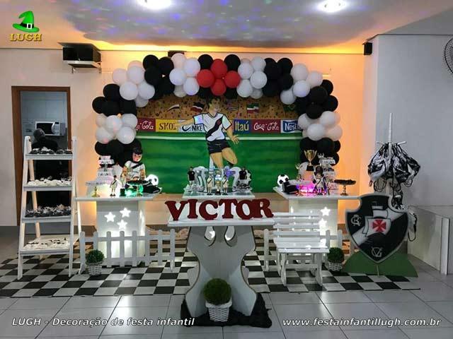 Decoração do Vasco da Gama para festa de aniversário - tema de Futebol - Barra - RJ