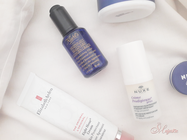 Kiehl's Midnight Recovery Concentrate e Nuxe Crème Prodigieuse yeux