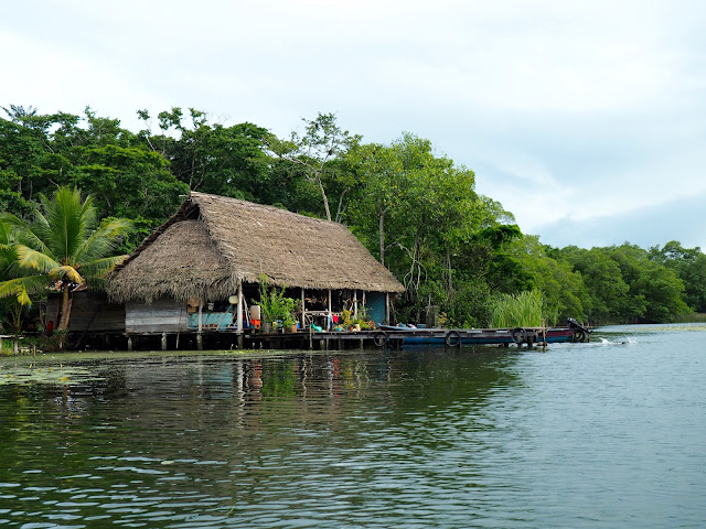 Local stilt houses on Lake Izabal, Guatemala