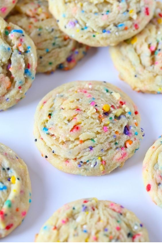 Super Soft Sprinkle Pudding Cookies