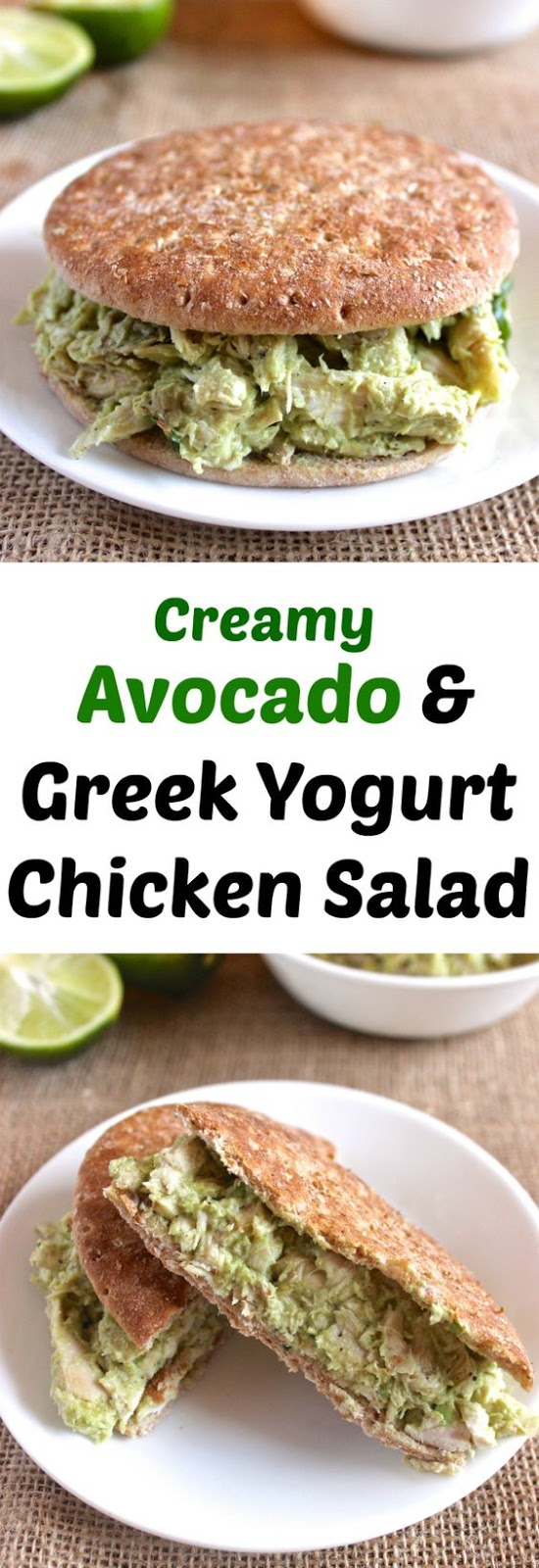 CREAMY AVOCADO GREEK YOGURT CHICKEN SALAD