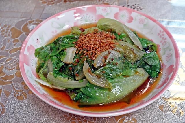 素肉鬆燙青菜