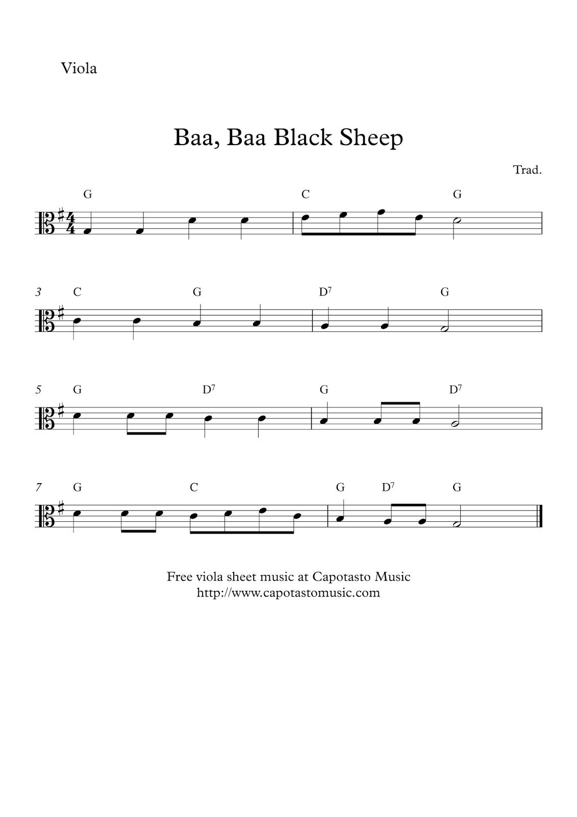 Free Printable Sheet Music