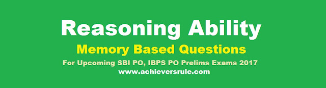 Reasoning Ability Practice Test for SBI PO prelims