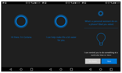 Tampilan Cortana for Android