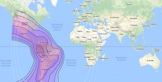 Satellite Beam Intelsat 14 45.0°W C Band