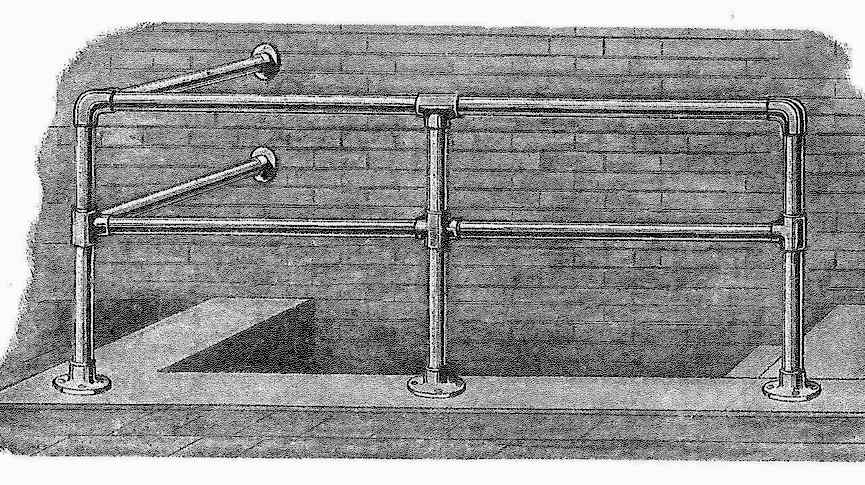 1925 utility stairs, an illustration from a catalog