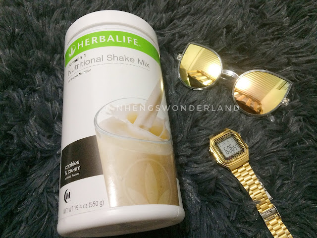 Herbalife F1 Nutritional Shake Mix on Cookies and Cream flavor