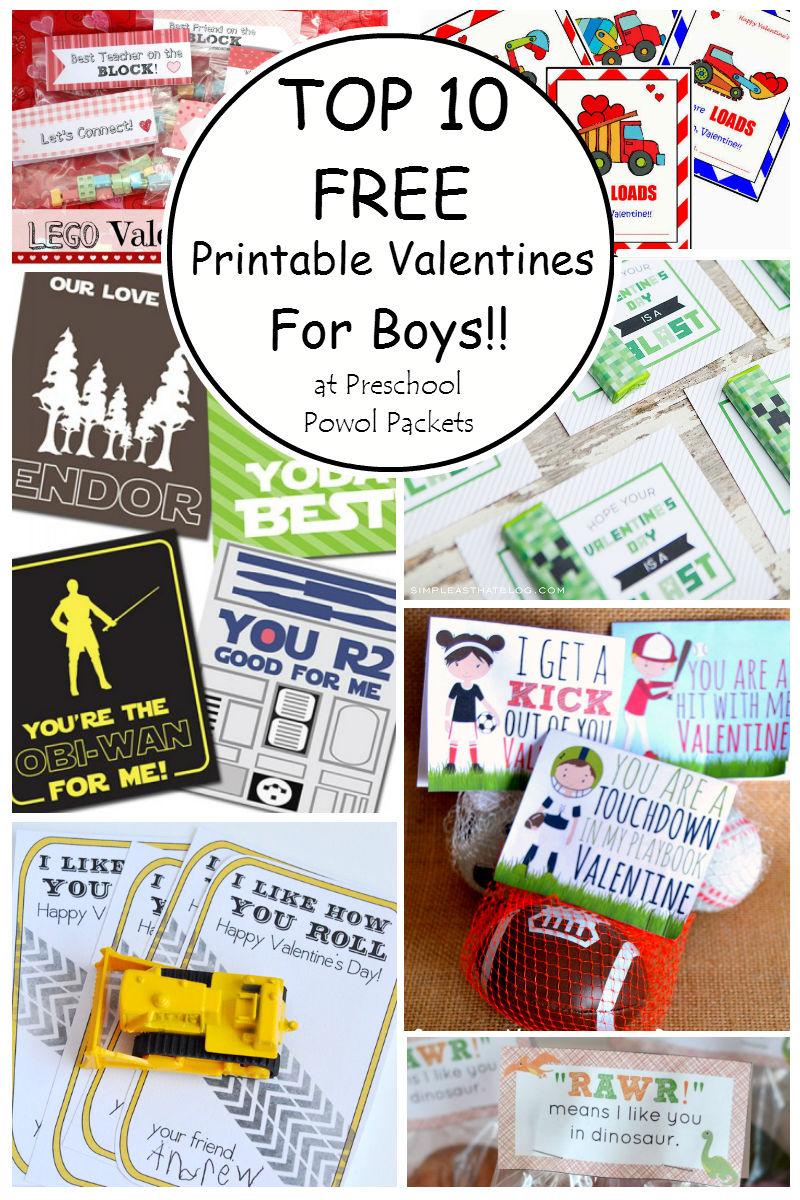 Top 10 Printable Valentines Cards For Boys Preschool Powol