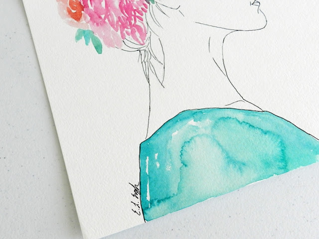 Watercolor Figure Painting by Elise Engh