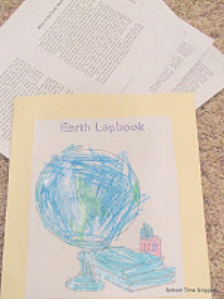 The Earth Lapbook from A Journey Through Learning