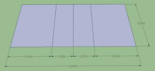 Gambar Lapangan Bola Volley Lengkap dengan Ukurannya
