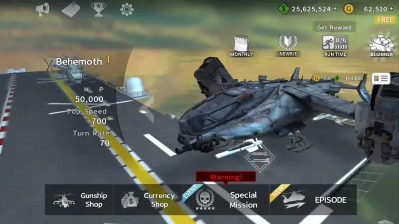 GUNSHIP BATTLE Helicopter 3D Apk Mod Unlimited Money Data Obb