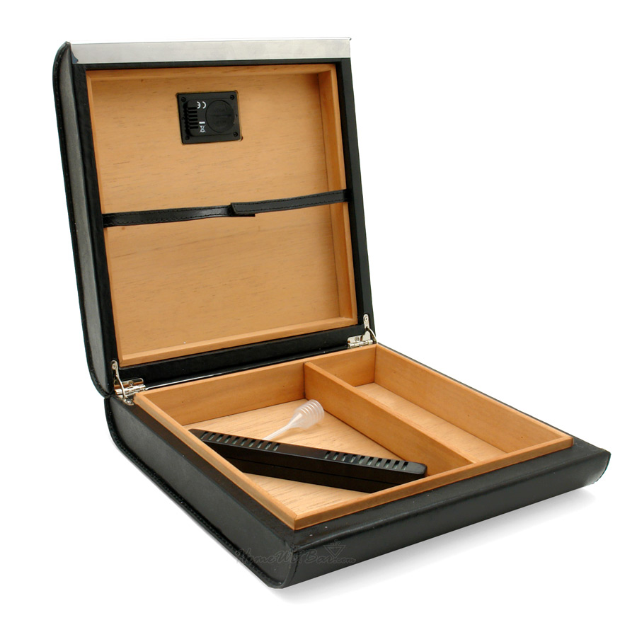 Digital Display Black Leather Cigar Humidor (20 cigars Capacity) gift | eBay