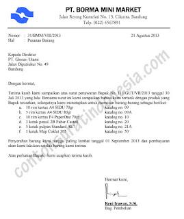 Wilanisa Surat Pesanan Dan Surat Pengiriman Barang