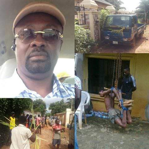 Popular man arrested in Anambra for allegedly using 16-year-old boy for ritual. See what he did to the boy (photos)