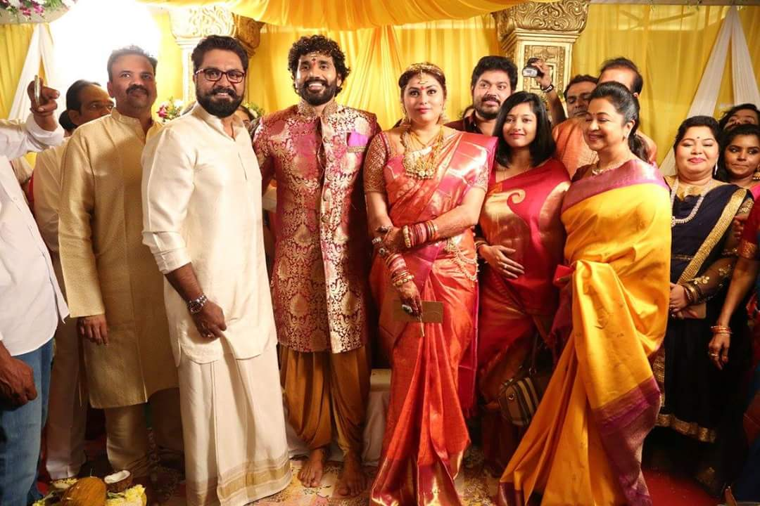 Photos from the wedding of #Namitha and #Veera, which was held today morning at Tirupati..!!