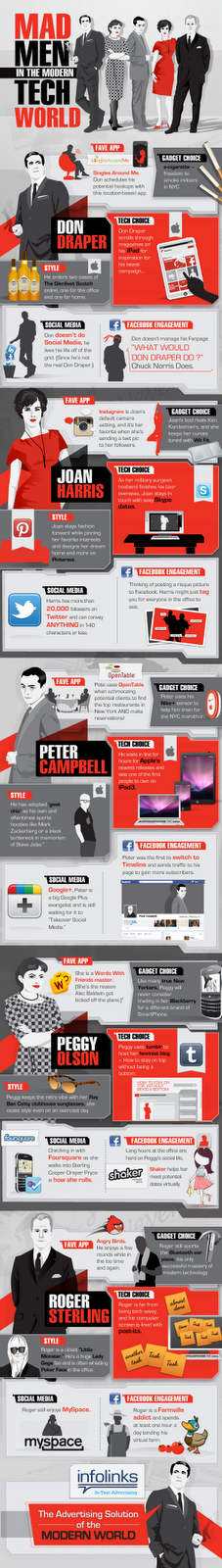 Mad Men Enters into Tech World Infographic