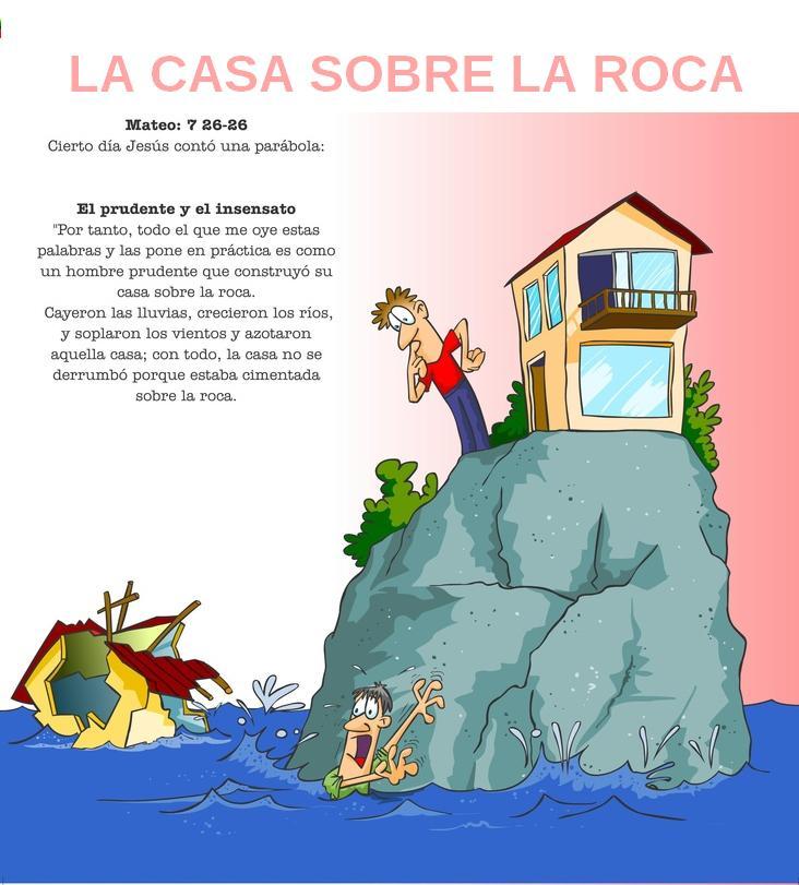 Biblia En Puntadas Parábolas La Casa Sobre La Roca O Los Dos Cimientos