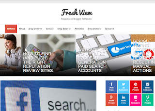 Fresh View Blogger Template