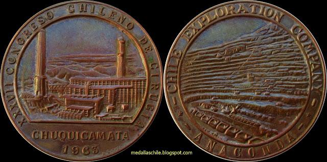Medalla Congreso Cirugia Chuquicamata