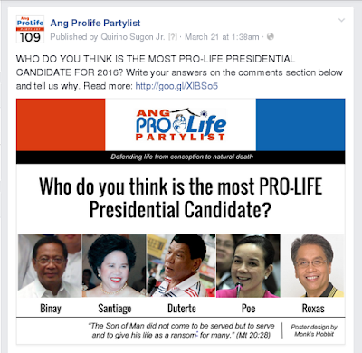 Who do you think is the most pro-life presidential candidate?