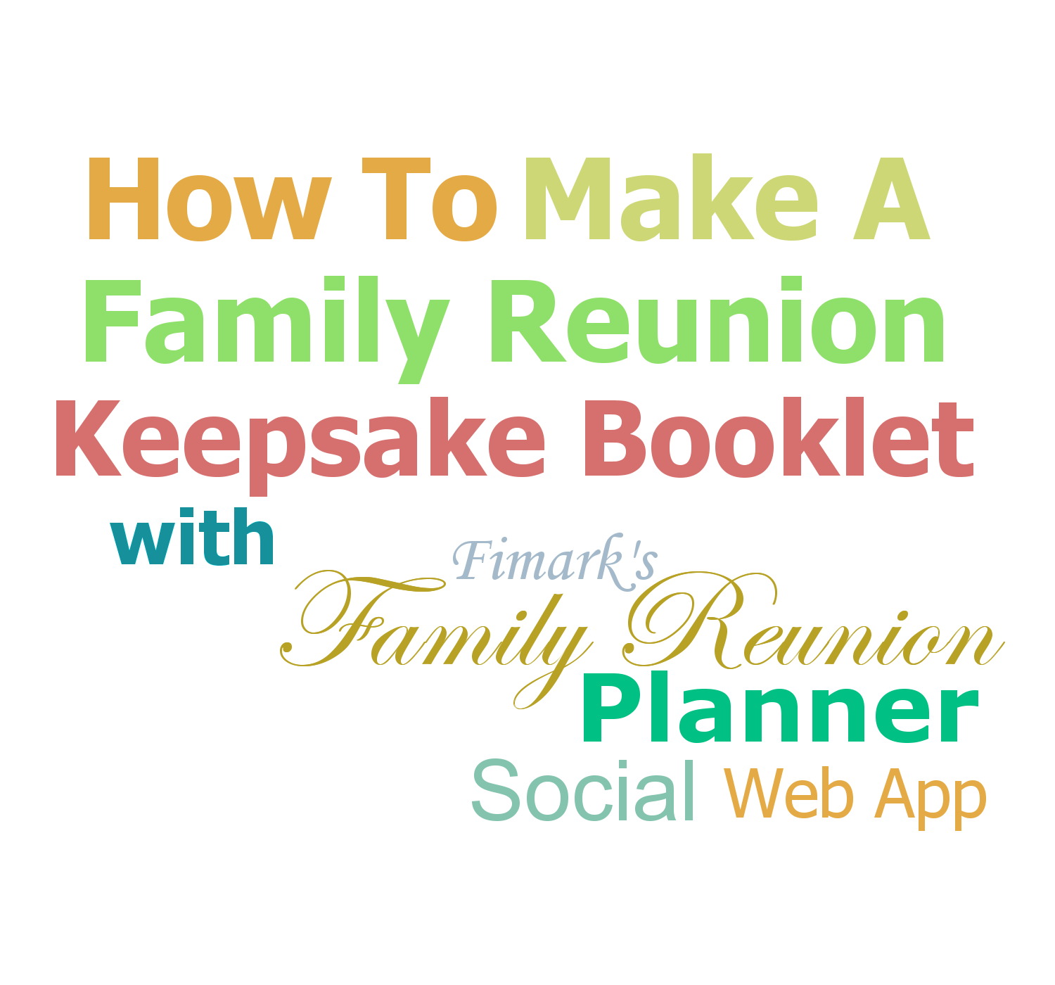 Family Reunion Planning Guides Apps And Books How To Make A Keepsake Reunion Booklet