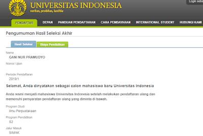 Pengalaman Ikut SIMAK Universitas Indonesia