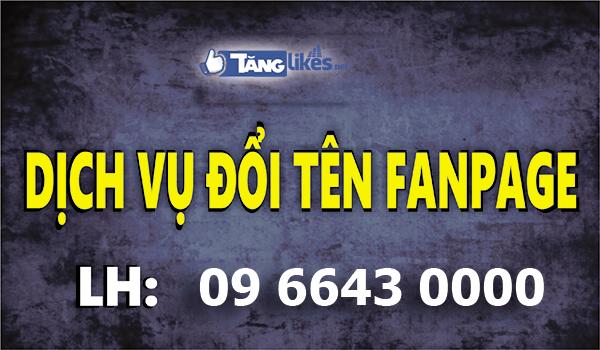 doi ten fanpage facebook