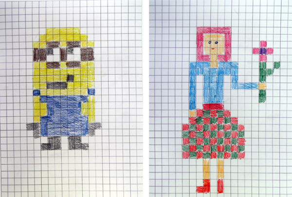 graph paper, art, kids activties, painting, grid