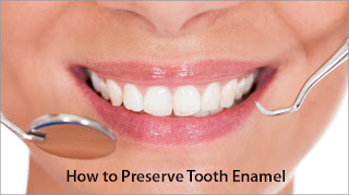 Woman with a beautiful smile who knows how to preserve tooth enamel.