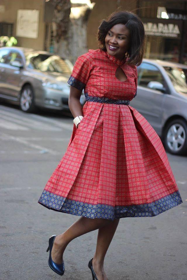 Smart Short Ankara Style Gown for Ladies - DeZango Fashion ...