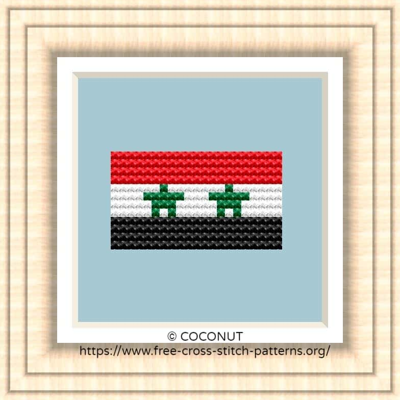 NATIONAL FLAG OF SYRIA CROSS STITCH CHART