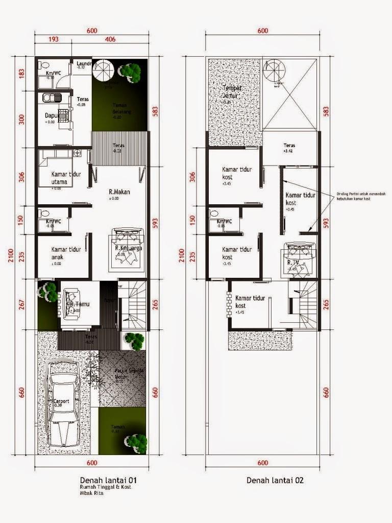 Desain Rumah Minimalis Ukuran 8 X 15