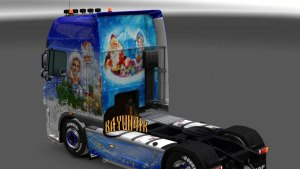 New Year's Express skin for DAF XF 105 50k