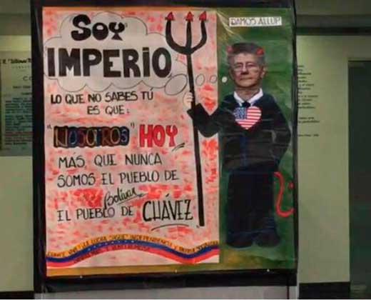 Ramos Allup rechaza pancarta en su contra exhibida en Conatel