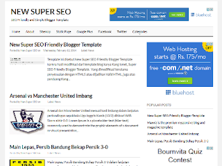 Super SEO Friendly Blogger Template