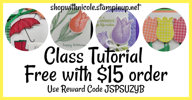 Free March Class Tutorial with $15 order | offered by Nicole Steele The Joyful Stamper