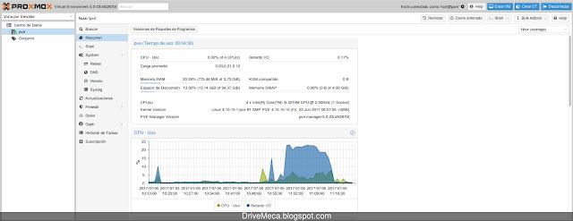 Verificando actualización a Proxmox 5